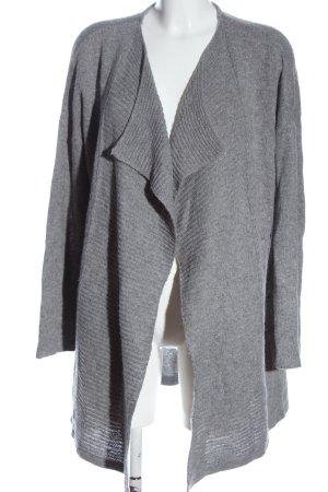 C&A Cárdigan gris claro moteado look casual