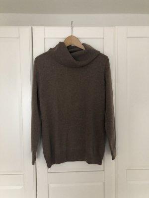 C&A Basics Kaszmirowy sweter szaro-brązowy