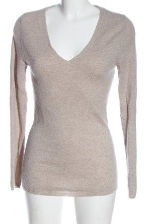 C&A Kaszmirowy sweter kremowy Melanżowy W stylu casual