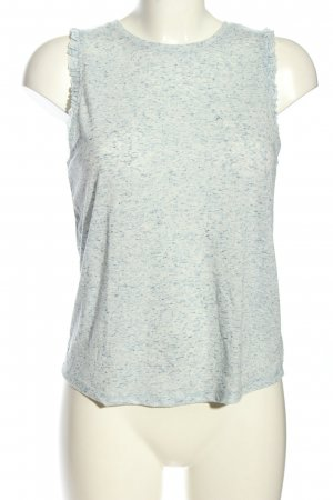 C&A Clockhouse A-Linien Top weiß-blau meliert Casual-Look
