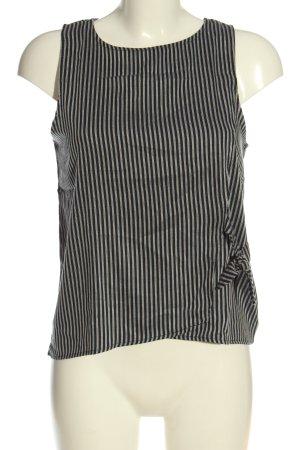 C&A Clockhouse ärmellose Bluse schwarz-weiß Streifenmuster Casual-Look