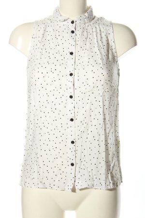 C&A Clockhouse ärmellose Bluse weiß-schwarz Punktemuster Casual-Look
