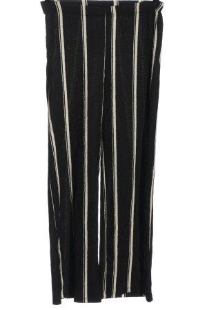 C&A Clockhouse Luźne spodnie czarny-w kolorze białej wełny Wzór w paski