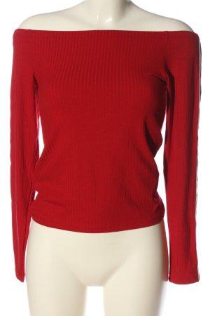 C&A Clockhouse Carmen blouse rood kabel steek casual uitstraling