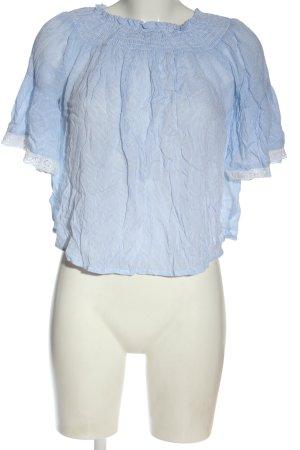 C&A Clockhouse Carmen blouse blauw gestreept patroon casual uitstraling