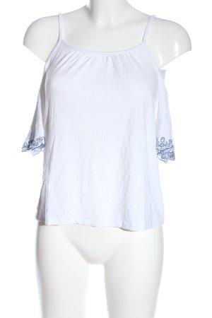 C&A Clockhouse Carmen Shirt white-blue casual look