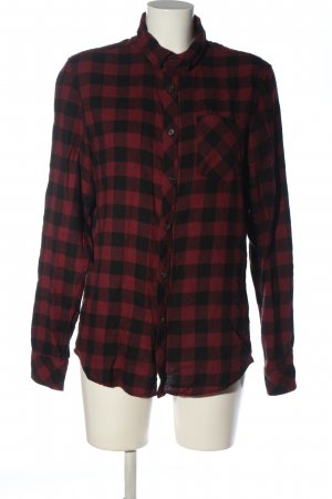C&A Clockhouse Flannel Shirt pink-black check pattern casual look