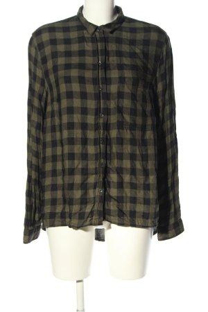 C&A Clockhouse Flannel Shirt black-khaki check pattern casual look