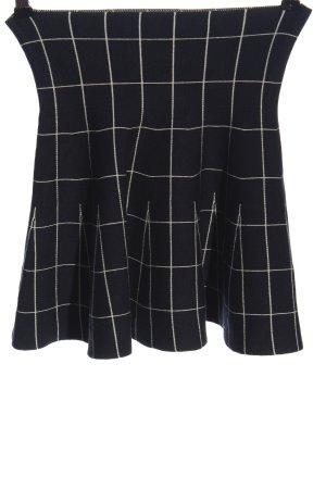 C&A Clockhouse Rozkloszowana spódnica czarny-biały Wzór w kratkę