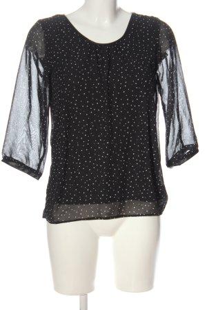 C&A Clockhouse Hemd-Bluse schwarz-weiß Punktemuster Casual-Look