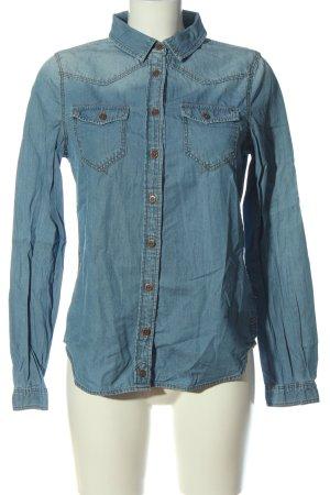 C&A Clockhouse Camicia denim blu stile casual