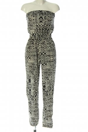 C&A Clockhouse Jumpsuit black-white allover print casual look