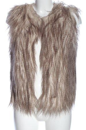 C&A Clockhouse Kamizelka ze sztucznym futrem brązowy W stylu casual