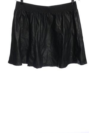 C&A Clockhouse Rok van imitatieleder zwart casual uitstraling