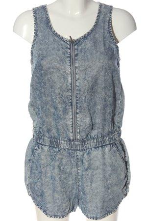 C&A Clockhouse Kurzer Jumpsuit blau Street-Fashion-Look