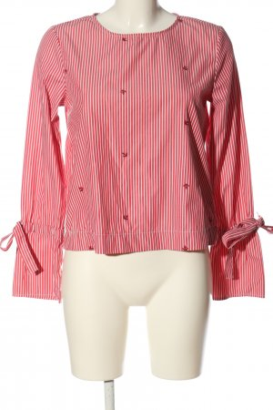 C&A Clockhouse Long Sleeve Blouse red-white themed print casual look
