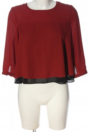 C&A Clockhouse Long Sleeve Blouse red-black casual look