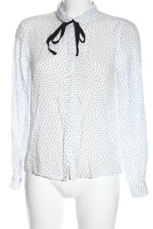 C&A Clockhouse Long Sleeve Shirt white-black spot pattern casual look