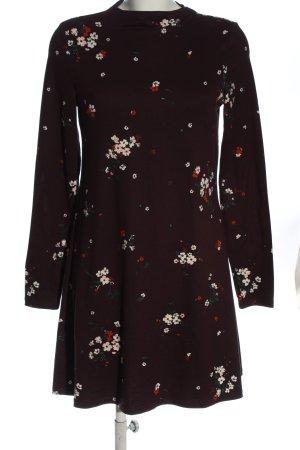 C&A Clockhouse Longsleeve Dress brown allover print casual look