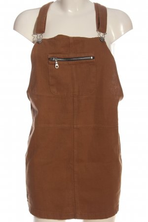 C&A Clockhouse Pinafore Overall Skirt brown casual look