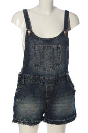 C&A Clockhouse Pantalón corto tipo peto azul look casual