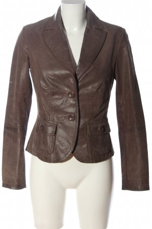 C&A Clockhouse Leather Blazer brown casual look