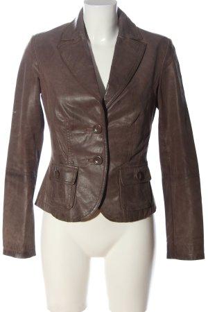 C&A Clockhouse Blazer de cuero marrón look casual