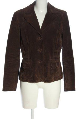 C&A Clockhouse Veste en cuir brun style décontracté