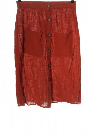 C&A Clockhouse Midi Skirt red casual look