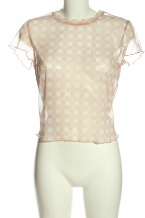 C&A Clockhouse Mesh Shirt nude-cream allover print elegant