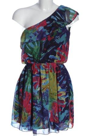 C&A Clockhouse Sukienka na jedno ramię Abstrakcyjny wzór W stylu casual