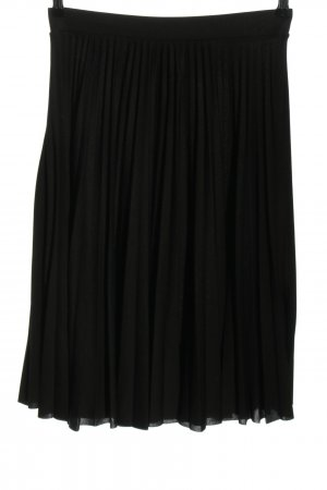 C&A Clockhouse Pleated Skirt black business style