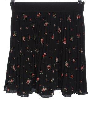 C&A Clockhouse Plisowana spódnica czarny-czerwony Na całej powierzchni