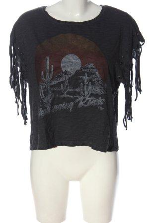 C&A Clockhouse Print Shirt light grey flecked casual look