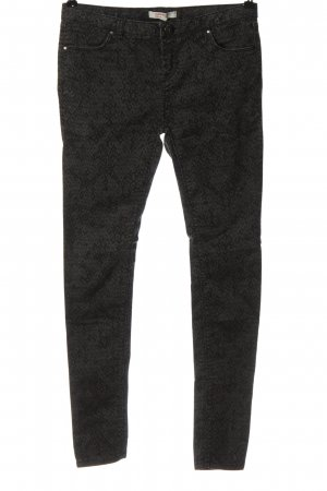 C&A Clockhouse Spodnie rurki czarny-jasnoszary Abstrakcyjny wzór W stylu casual