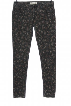 C&A Clockhouse Drainpipe Trousers light grey allover print casual look