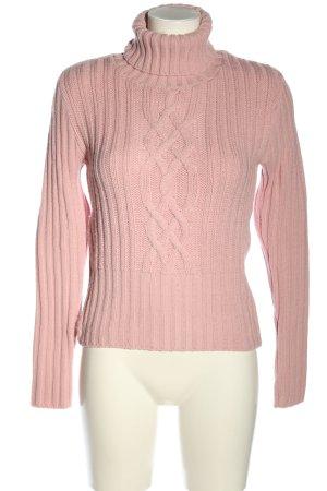 C&A Clockhouse Rollkragenpullover pink Zopfmuster Casual-Look