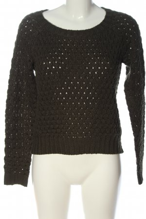 C&A Clockhouse Knitted Sweater brown cable stitch casual look