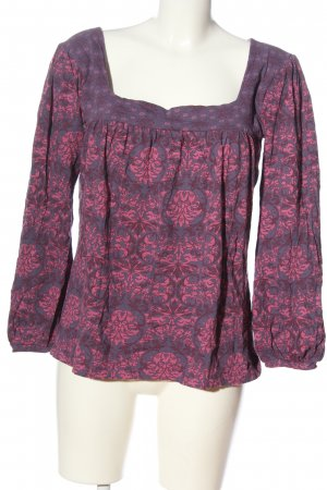 C&A Clockhouse Schlupf-Bluse lila-pink grafisches Muster Casual-Look