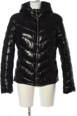 C&A Clockhouse Quilted Jacket black quilting pattern casual look