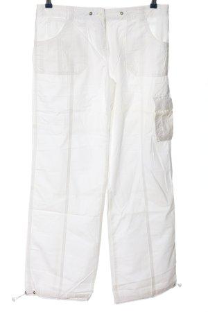 C&A Clockhouse Pantalone jersey bianco stile casual
