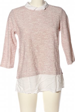 C&A Clockhouse Strickpullover pink-weiß Casual-Look