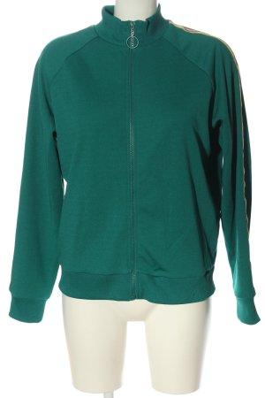 C&A Clockhouse Veste sweat vert motif rayé style décontracté
