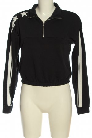 C&A Clockhouse Sweatshirt schwarz-weiß Casual-Look
