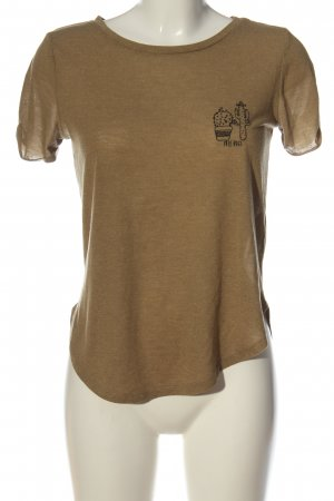 C&A Clockhouse T-shirt brązowy Melanżowy W stylu casual