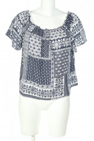 C&A Clockhouse Tuniekblouse blauw-wit volledige print casual uitstraling