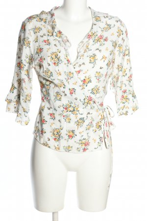 C&A Clockhouse Wraparound Blouse flower pattern casual look