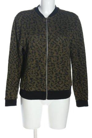 C&A Clockhouse Giacca di lana marrone-nero motivo astratto stile casual