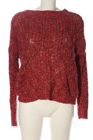C&A Clockhouse Jersey trenzado rojo punto trenzado look casual
