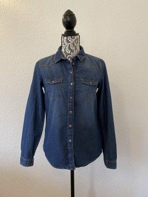 C&A Damen Denim Hemd Blau Gr. 36 TOP !!